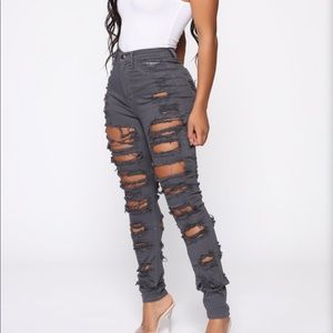 NWT Grey High Rise Skinny Jeans